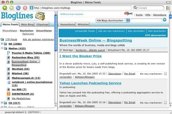 RSS-Reader im Web